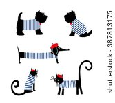French Style Animals Set. Cute...