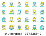 set of avatars. flat style.... | Shutterstock .eps vector #387826942