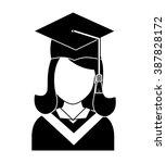 graduation icon design  | Shutterstock .eps vector #387828172