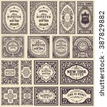 retro cards set. elements... | Shutterstock .eps vector #387829882