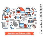 logistics and transportation.... | Shutterstock .eps vector #387830326