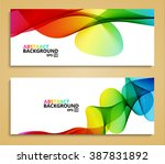vector modern colorful abstract ... | Shutterstock .eps vector #387831892