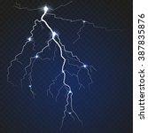 isolated realistic lightning...   Shutterstock .eps vector #387835876