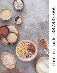 gluten free grains and flours.... | Shutterstock . vector #387837766