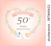 wedding anniversary cards with... | Shutterstock .eps vector #387840622
