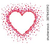 heart made from many round red... | Shutterstock . vector #387843592