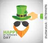 happy st. patricks day   yellow ... | Shutterstock .eps vector #387844696