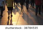 shadows of people walking in a... | Shutterstock . vector #38784535