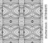 monochrome abstract pattern.... | Shutterstock . vector #387848695
