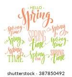 spring lettering design | Shutterstock .eps vector #387850492