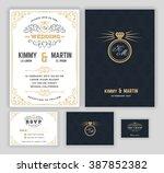 creative wedding invitations... | Shutterstock .eps vector #387852382