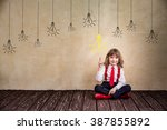 portrait of child businessman...   Shutterstock . vector #387855892