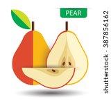 pear  fruit vector illustration | Shutterstock .eps vector #387856162