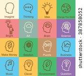 idea outline design  vector... | Shutterstock .eps vector #387858052