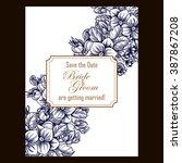 vintage delicate invitation... | Shutterstock . vector #387867208
