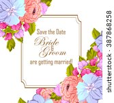 vintage delicate invitation... | Shutterstock . vector #387868258