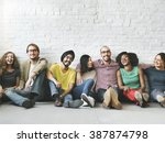 people diversity friends... | Shutterstock . vector #387874798