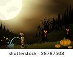 beautiful halloween night | Shutterstock .eps vector #38787508