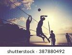 Beach Volleyball At Sunset...