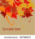 autumn vector background | Shutterstock .eps vector #38788819
