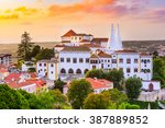 sintra  portugal old city at... | Shutterstock . vector #387889852