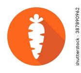 carrot icon in the style of a... | Shutterstock .eps vector #387890962