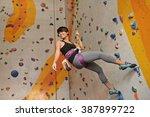 cheerful vietnamese girl... | Shutterstock . vector #387899722
