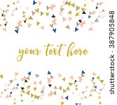 cute pink and gold vector... | Shutterstock .eps vector #387905848