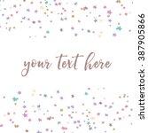 cute scattered vector star... | Shutterstock .eps vector #387905866