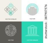 vector logo design template in... | Shutterstock .eps vector #387907576