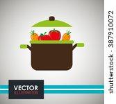 vegetarian food design  | Shutterstock .eps vector #387910072