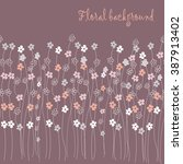 seamless grassy texture.endless ... | Shutterstock .eps vector #387913402