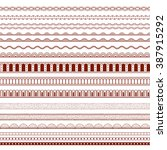 thin patterned borders. simple... | Shutterstock .eps vector #387915292