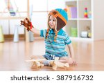 happy child toddler playing... | Shutterstock . vector #387916732