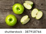 ripe green apples and apple... | Shutterstock . vector #387918766