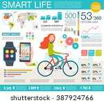 infographic with charts  icons  ... | Shutterstock .eps vector #387924766
