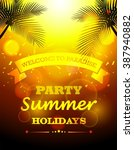 party summer holidays | Shutterstock .eps vector #387940882