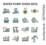 vector icon of water pump... | Shutterstock .eps vector #387944566