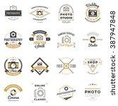 set of photography logo design... | Shutterstock .eps vector #387947848