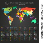 world map infographic template. ... | Shutterstock .eps vector #387957712