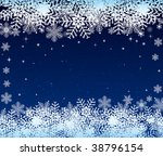 abstract winter vector design | Shutterstock .eps vector #38796154
