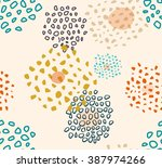 seamless pattern with doodle... | Shutterstock . vector #387974266
