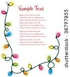 christmas lights background | Shutterstock .eps vector #38797855
