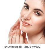 woman beauty portrait of... | Shutterstock . vector #387979402
