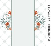 invitation card with floral... | Shutterstock .eps vector #387991465