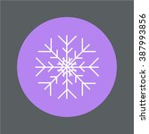 snowflake weather icon line... | Shutterstock .eps vector #387993856
