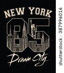 New York City Print   Vintage...