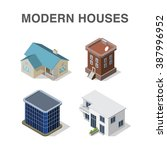 isometric building set with... | Shutterstock .eps vector #387996952