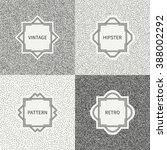 polka dot pattern. geometric... | Shutterstock .eps vector #388002292