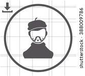 artist vector icon | Shutterstock .eps vector #388009786